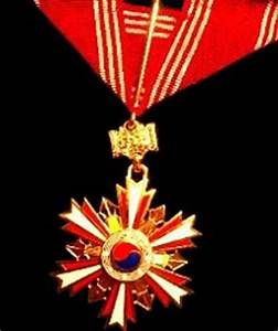 Army Medals Chart Odm Of The Republic Of Korea Order Of National Security Merit