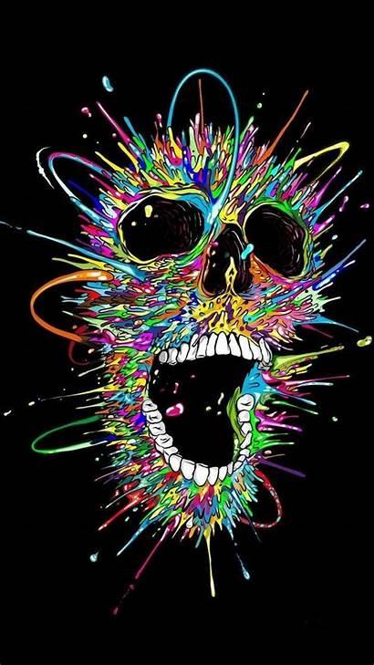 Skull Colorful Desktop Wallpapers Backgrounds Iphone Zedge