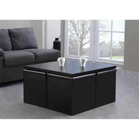 table basse carree avec pouf laly table basse carr 233 e 4 poufs l80cm noir achat vente table basse laly table basse carr 233 e