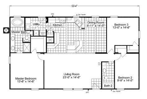 homes floor plans with pictures the cypress sa30543c manufactured home floor plan or