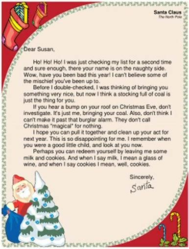funny santa letters childrens correspondence