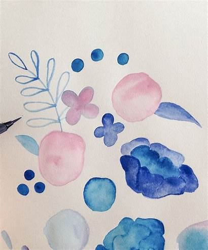 Paint Watercolour Freehand Floral Simple Leaf Leaves