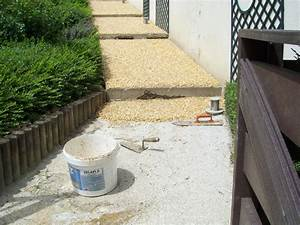 Prix Des Dalles De Jardin : terrasse en gravier resine ~ Premium-room.com Idées de Décoration