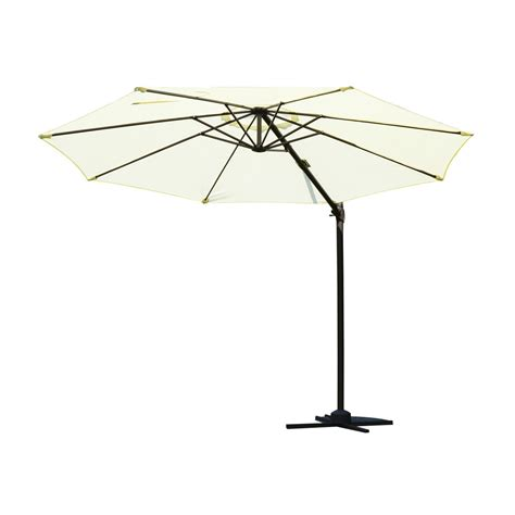 outsunny 10 outdoor patio market umbrella white