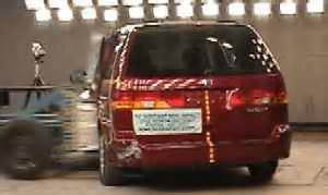 honda odyssey crash test safety ratings
