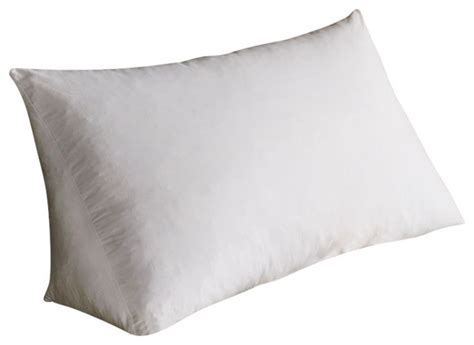 Reading Wedge Pillow, White, Poly Cluster