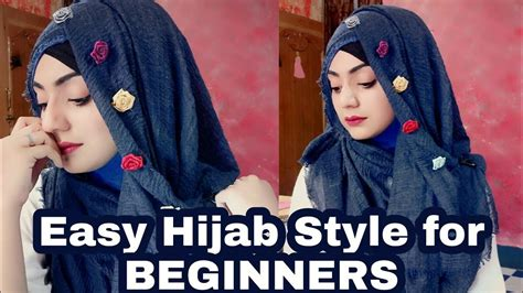 easy  elegant hijab style  beginners october special hijab style