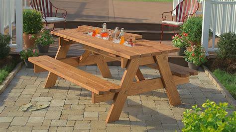 build  picnic table  built  cooler
