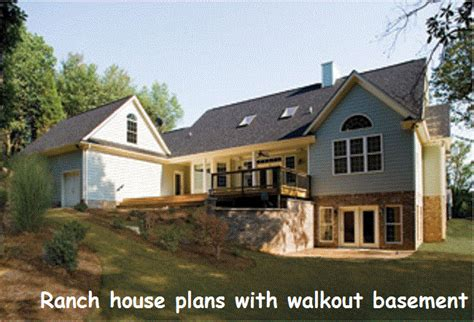 Ranch house plans with walkout basement (With images