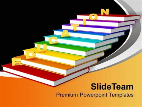 golden education  books future powerpoint templates