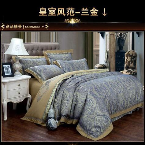 White And Gold Bed Covers by Popular Blue Gold Bedding Buy Cheap Blue Gold Bedding Lots