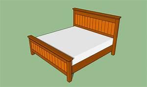 King Size Bed Frame Plans BED PLANS DIY & BLUEPRINTS