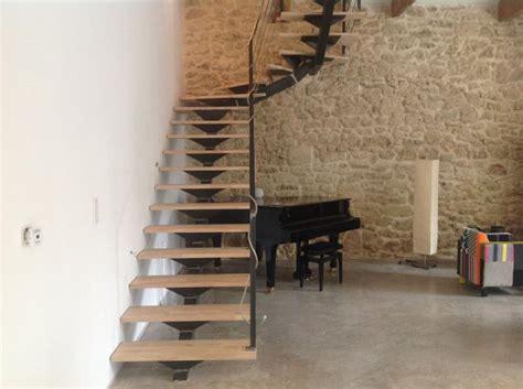 escalier m 233 tal bois limon central dans l h 233 rault