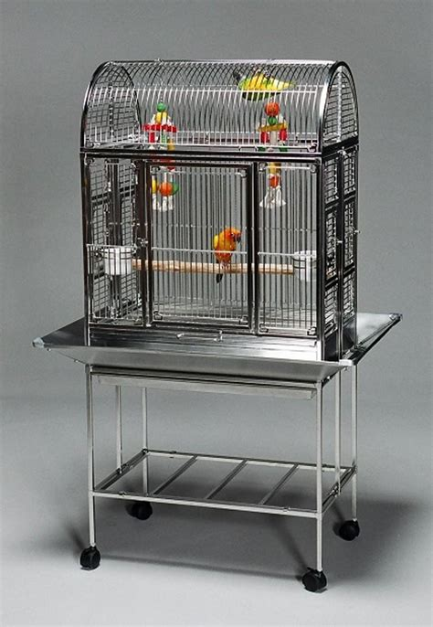 Featherland Stainless Steel Parrot Cage Small 18-27