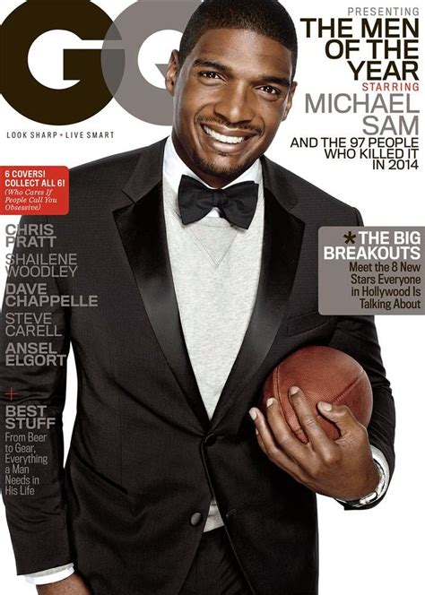 Gq Of The Year by Michael Sam Covers Gq Of The Year Issue The Fashionisto