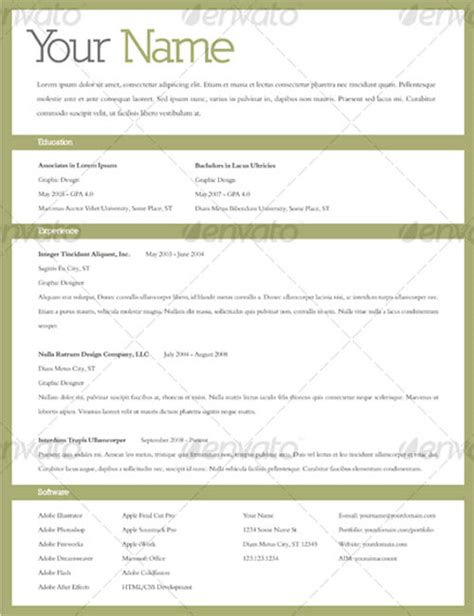 editable resume template infographic free