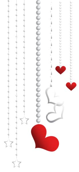 valentines day decoration transparent png clip art image