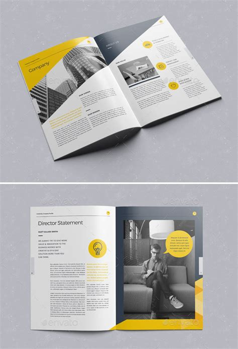 Just like any other page, design of a user profile page has to include some crucial elements in order to be successful. 30 Awesome Company Profile Design Templates - Bashooka