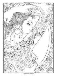 Shoulder tattooed woman - Tattoos Coloring Pages for