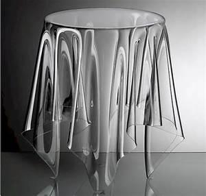Table En Plexiglas : clear acrylic side table interior design inspiration eva designs ~ Teatrodelosmanantiales.com Idées de Décoration