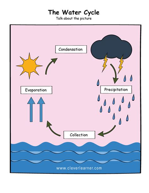 printable water cycle worksheets  preschools week