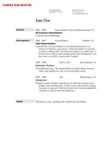 best resume format for bartenders bartender resume exle template learnhowtoloseweight net