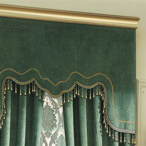 green valance vintage green curtain chenille fabric no valance