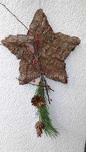 Weihnachtsdeko Selber Basteln Naturmaterialien : stern aus baumrinde als weihnachtsdeko basteln und dekorieren ~ Yasmunasinghe.com Haus und Dekorationen