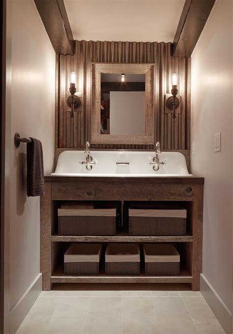utility sink  bathroom bathroom rustic  industrial