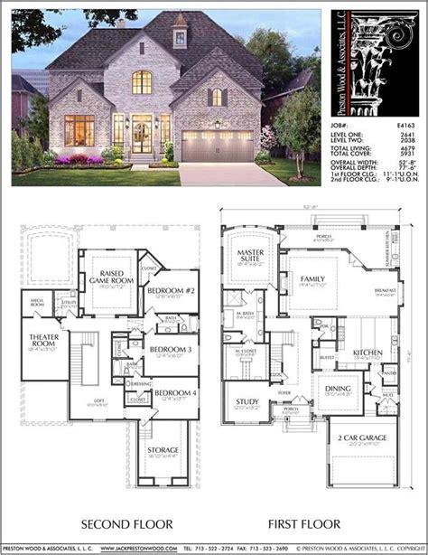unique  story house plan floor plans  large  story