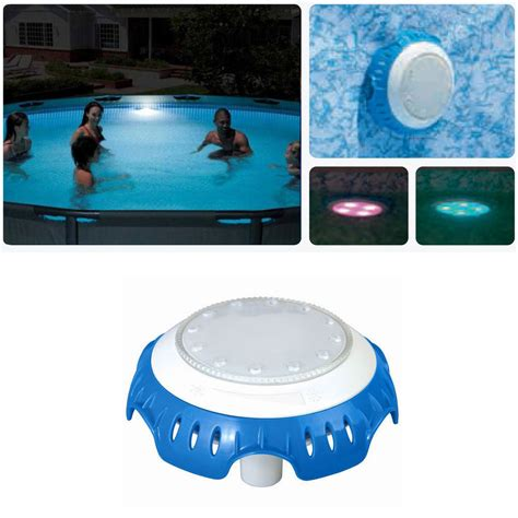 bestway water powered swimming pool led light multi colour