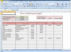 11+ wedding planner spreadsheet shawn weatherly