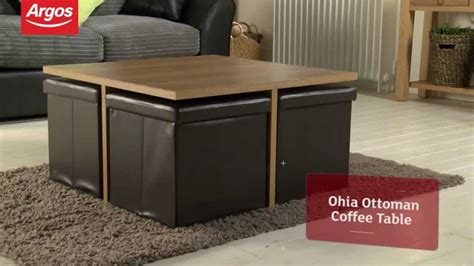 table with ottomans underneath coffee table with ottoman seating best home design 2018