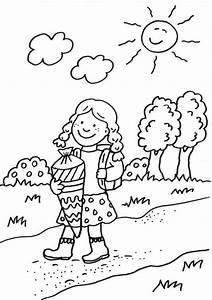 Kind Mit Schultüte : kostenlose malvorlage einschulung schulweg mit schult te ~ Lizthompson.info Haus und Dekorationen