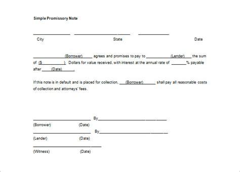 promissory note template word 34 promissory note templates doc pdf free premium templates