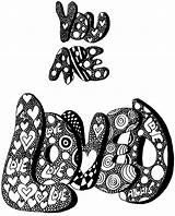 Letter Hippie Bubble Letters Coloring Printable Circle Drawings sketch template