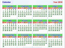 Kalender2018 horizontal und Vertikal