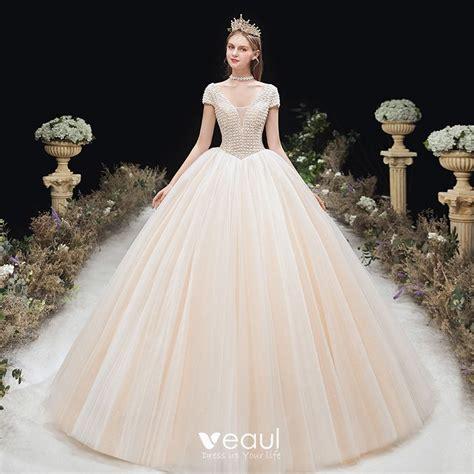 Chic / Beautiful Champagne Bridal Wedding Dresses 2020 ...