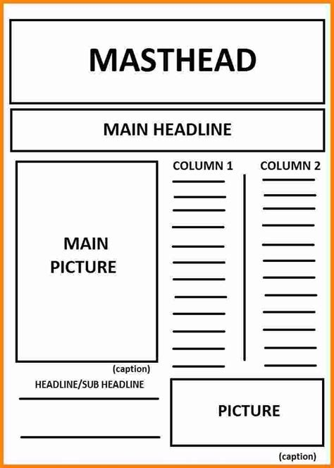 newspaper article layout world  printable  chart