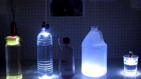 emergency light from a water bottle