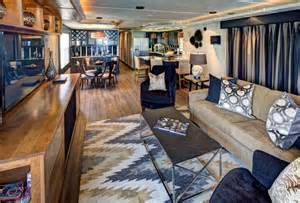 Family Room Entertainment Center Ideas by Houseboat Contemporary Living Room Austin By Robin