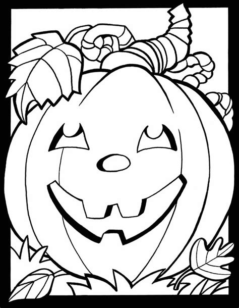 october coloring pages    print