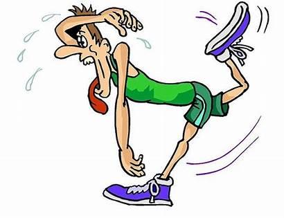 Cartoon Tired Runner