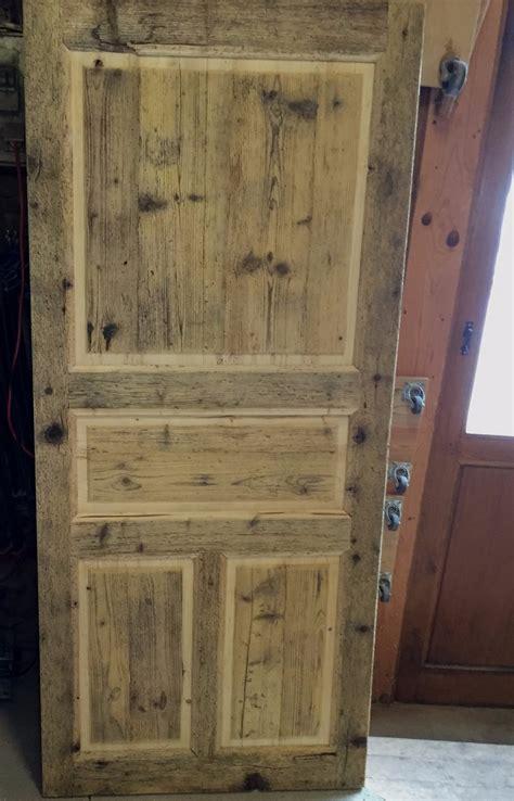 fabrication porte d int 233 rieur en d entr 233 e en vieux bois menuiserie quot le bois des huiles quot c