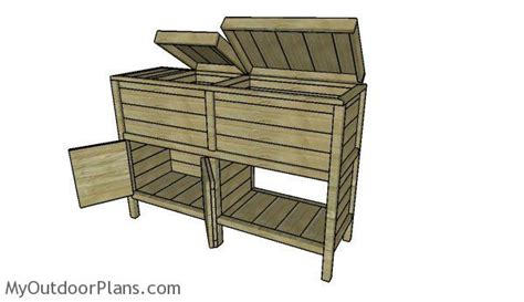 double wood cooler plans myoutdoorplans  woodworking plans  projects diy shed