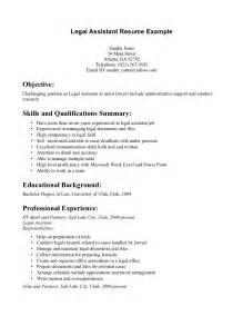 write a paralegal resume with no experience resume sle resume sles