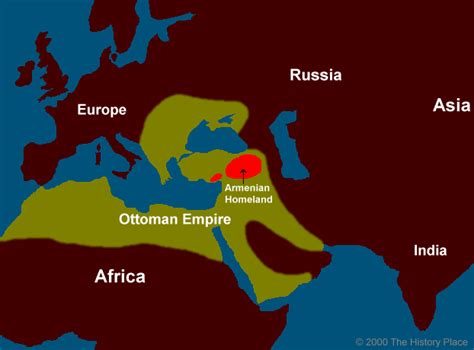Empire Ottoman 1915 by The History Place Genocide In The 20th Century