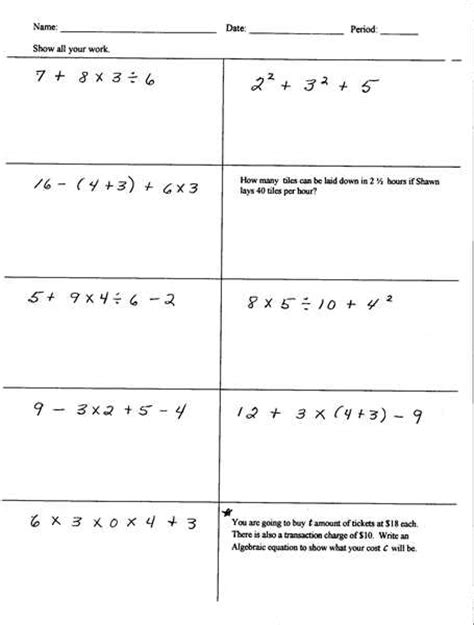 math problems for sixth graders breadandhearth