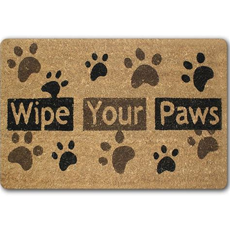 door welcome rubber floor mats bathroom paw area rugs