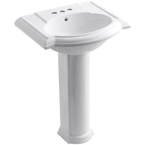 kohler devonshire pedestal sink 27 kohler devonshire vitreous china pedestal combo bathroom